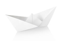 Papierboot Lizenzfreie Stockfotografie