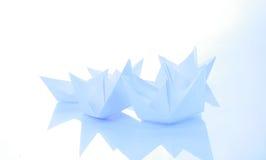 Papierboote Lizenzfreies Stockbild