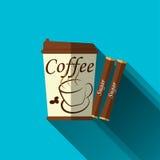 Papiercup für Kaffee Stockbild