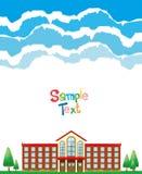 Papierdesign mit Schulhintergrund Lizenzfreies Stockbild