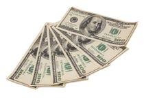 Papierdollar auf Weiß zwei Lizenzfreies Stockfoto