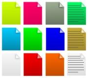 Papiere Lizenzfreie Stockbilder
