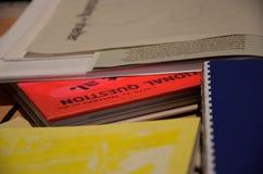 Papiere und Bücher Lizenzfreies Stockbild