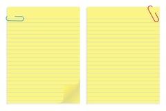 Papiere und Klipp Stockbild