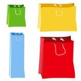 Papiereinkaufstasche-Vektoren Lizenzfreie Stockbilder