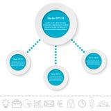 Papierelemente für infographic Die goldene Taste oder Erreichen für den Himmel zum Eigenheimbesitze Vektor Abbildung