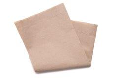 Papieren zakdoekje op witte achtergrond Royalty-vrije Stock Fotografie