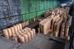 Papierfabriekfabriek Royalty-vrije Stock Afbeelding