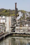 Papierfabriekinstallatie Stock Fotografie