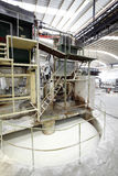 Papierfabriekmachine royalty-vrije stock afbeelding