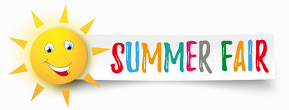Papierfahne lustiger Sun-Sommer angemessen lizenzfreie abbildung