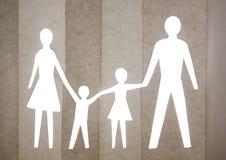 Papierfamilie Stockfotografie