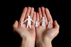 Papierfamilie Lizenzfreie Stockbilder