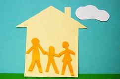 Papierfamilie Lizenzfreies Stockbild