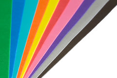 Papierfarbenspektrum Stockfoto