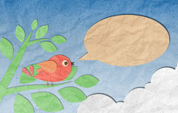 Papierfertigkeit, Vogel mit Spracheluftblase
