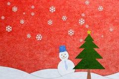 Papierfertigkeit-Weihnachtsgrußkarte Lizenzfreie Stockfotos