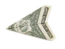 Papierfläche aus Dollarscheinen heraus Lizenzfreies Stockfoto
