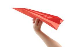 Papierflugzeug Lizenzfreie Stockfotos