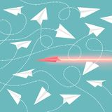 Papierflugzeug-Sammlungs-Vektor-Illustration stock abbildung