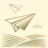 Papierflugzeuge Stockbilder