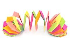 Papierformen des bunten Origamis Lizenzfreie Stockfotos
