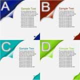 Papierfortschritts-Schablone Lizenzfreie Stockfotos