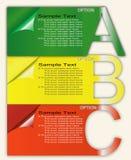 Papierfortschritts-Schablone oder Optionen Stockfotografie