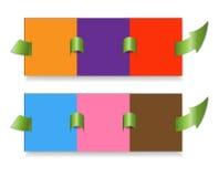 Papierfortschrittsschablone Lizenzfreie Stockbilder