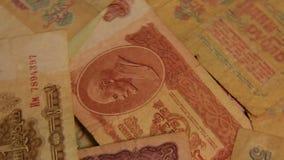 Papiergeld der UDSSR stock video