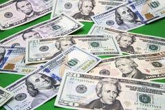 Papiergeld-Grünhintergrund USA Lizenzfreies Stockfoto