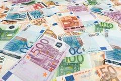 Papiergeldeuro Achtergrond van bankbiljetten Royalty-vrije Stock Afbeelding