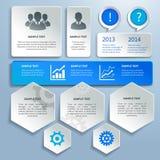 Papiergeschäft infographics Gestaltungselemente lizenzfreie abbildung