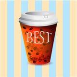 Papierglas mit Kaffee Lizenzfreies Stockfoto