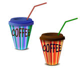 Papierglas mit Kaffee Lizenzfreie Stockfotografie