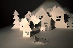 Papierhäuser Lizenzfreies Stockbild