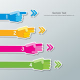 Papierhandzahl infographics Lizenzfreies Stockfoto