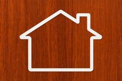 Papierhaus mit copyspace Wohnung, Familienkonzept Abstraktes Begriffsbild Lizenzfreies Stockfoto