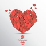 Papierherz Valentinsgrußtageskarte Lizenzfreie Stockfotos