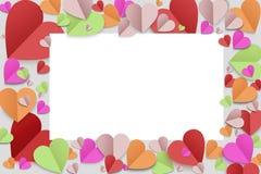 Papierherzhintergrund lizenzfreies stockfoto