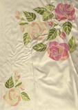 Papierhintergrund der alten Rosen Lizenzfreies Stockfoto