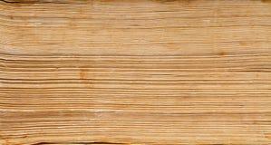 Papierhintergrund des alten Buches, Makro von Dornseiten lizenzfreies stockfoto