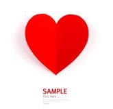 Papierinnerformsymbol für Valentinsgrußtag stockfoto