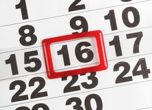 Papierkalender Lizenzfreies Stockbild