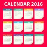 Papierkalenderschablone Stockfoto