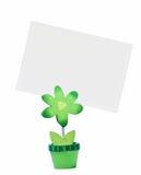 Papierkarte auf dem Support Stockbild