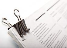 Papierklammer Lizenzfreies Stockbild