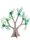 Papierklammer-Baum Lizenzfreies Stockfoto