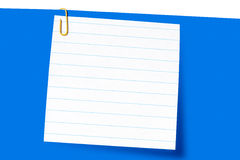 Papierklammer und kurzes Zeichen Stockbild