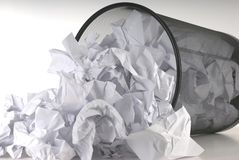 Papierkorb Lizenzfreies Stockbild